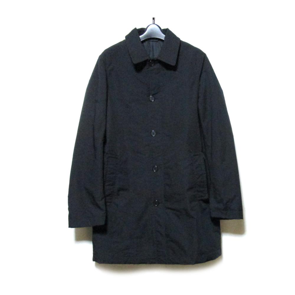 美品 MARNI マルニ 「44」 イタリア製 ステンカラーコート (黒 ブラック メンズ) 120986 【中古】