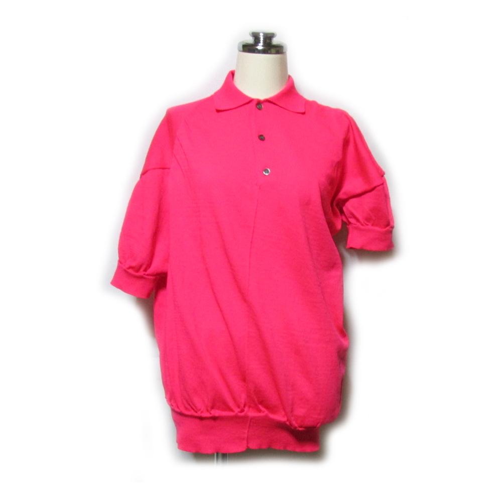 美品 FRAPBOIS フラボア 「1」 アシンメトリー蛍光カットソー (ピンク ポロシャツ 半袖) 121314 【中古】