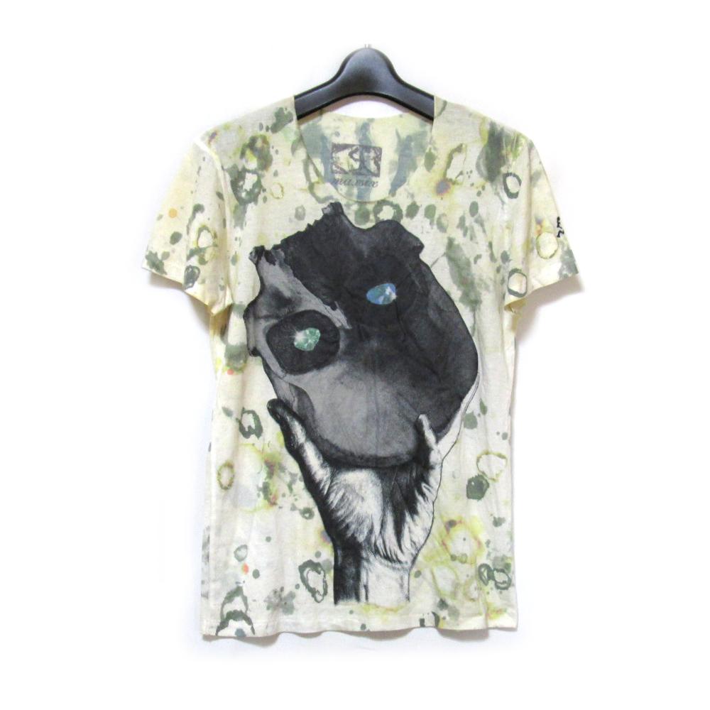 美品 maxsix マックスシックス アートゴシックTシャツ (半袖 橙染め ユニセックス) 121454 【中古】