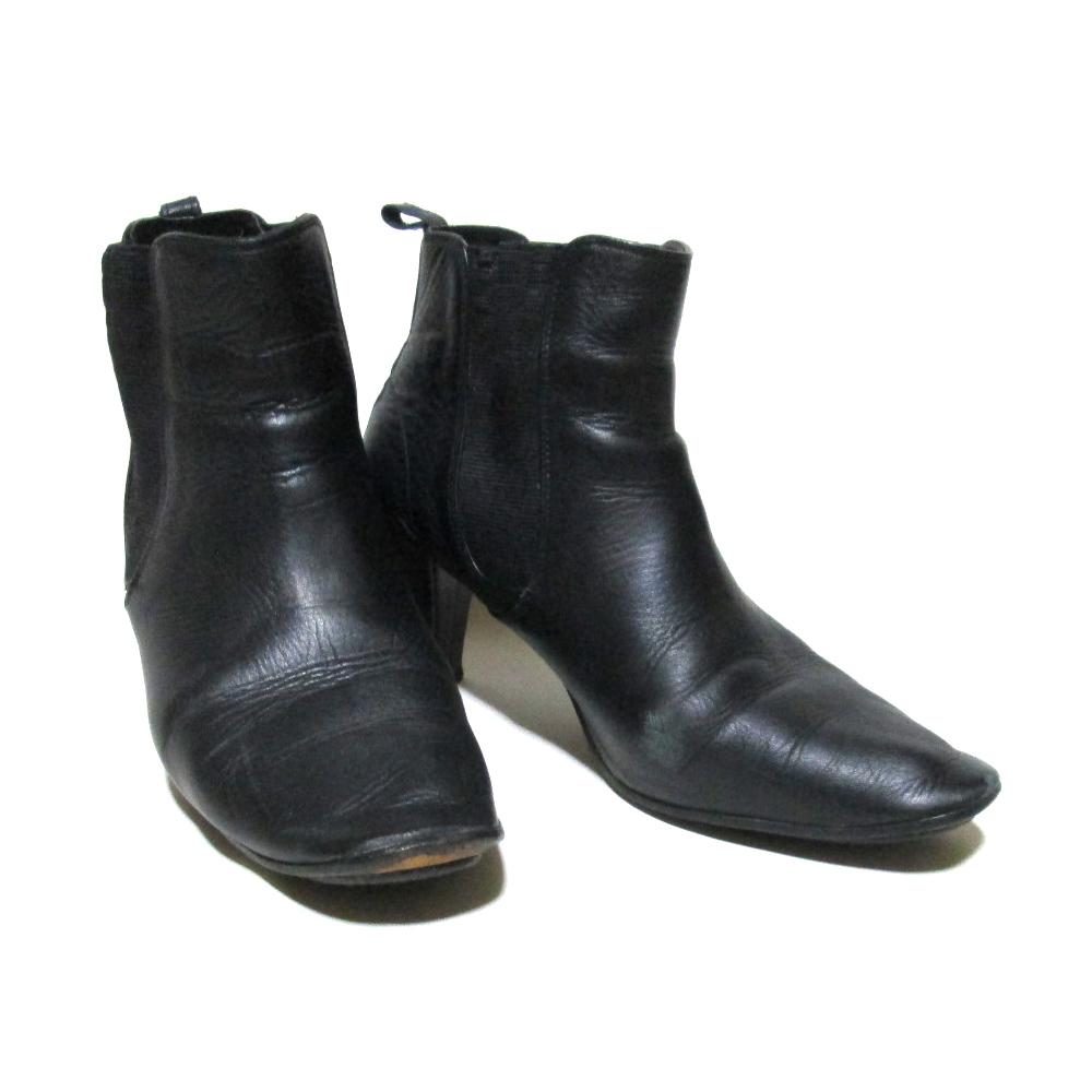repetto レペット 「38」 サイドゴアレザーヒールブーツ (皮 革 靴 黒 パンプス バレー) 122538 【中古】