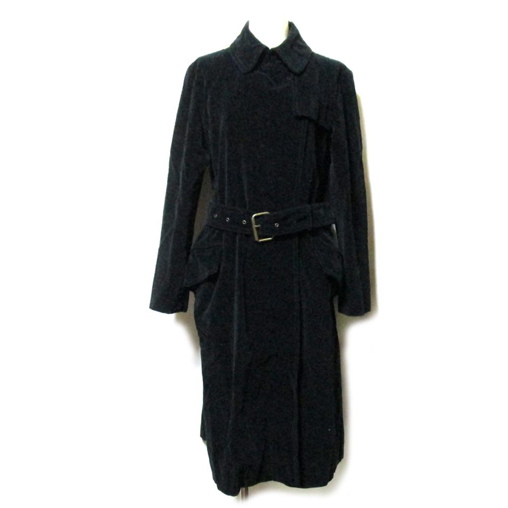 MARC JACOBS マークジェイコブス 「4」 イタリア製 ロングトレンチコート (黒 コレクションライン) 122661 【中古】