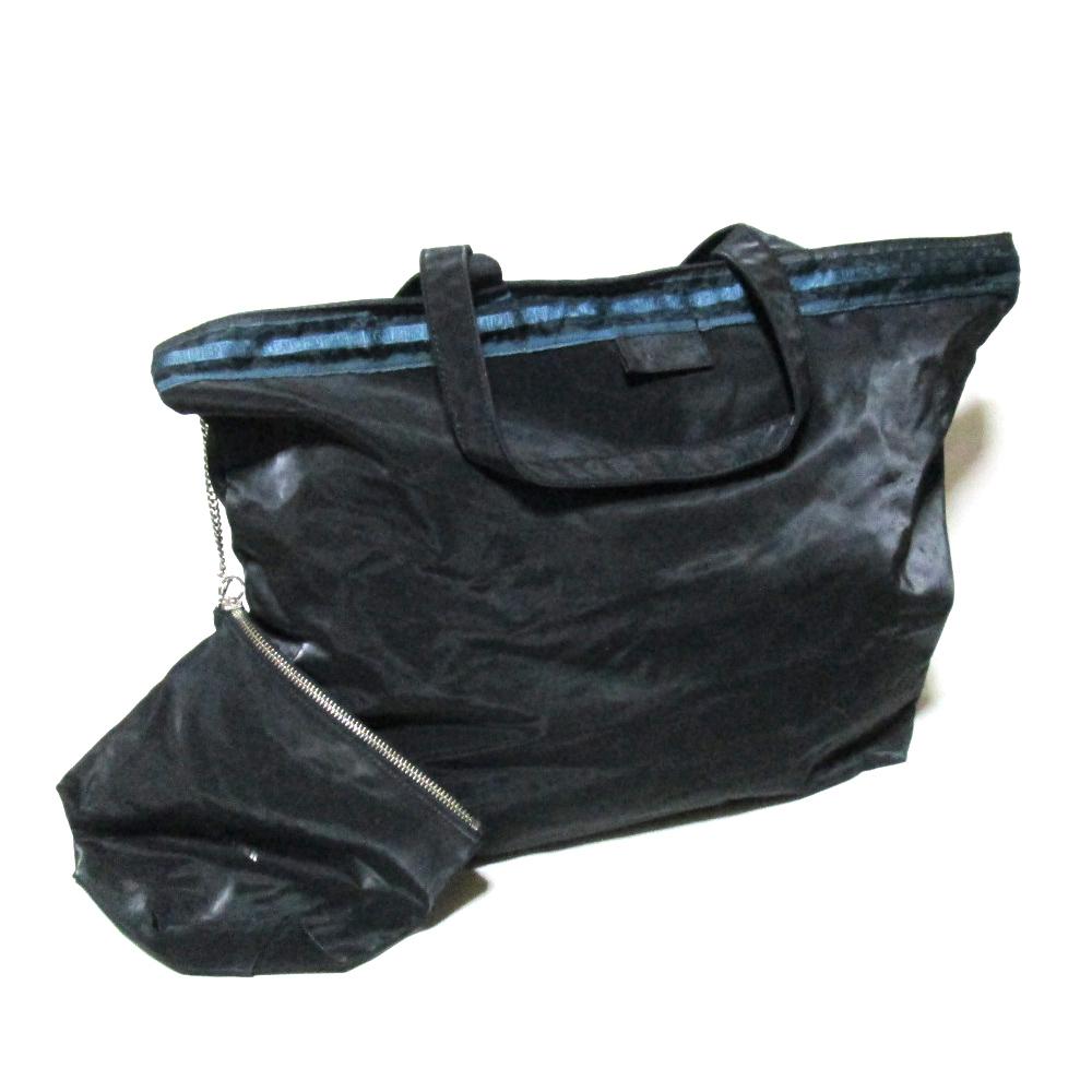 廃盤 Jean Paul GAULTIER ジャンポールゴルチエ サイバーワイドトートバッグ (黒 鞄) 122674 【中古】
