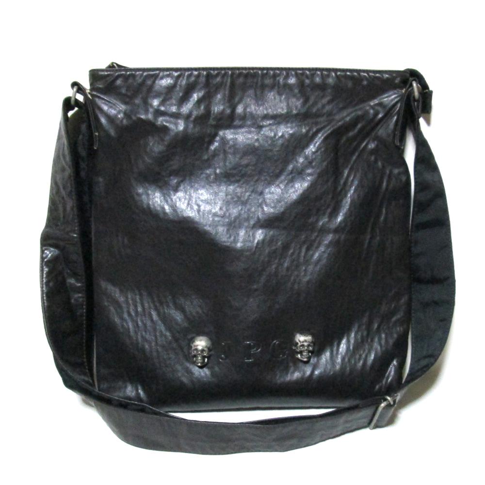 廃盤 Jean Paul GAULTIER ジャンポールゴルチエ メタルスカルチャームショルダー.トートバッグ (黒 鞄 ドクロ ) 122675 【中古】