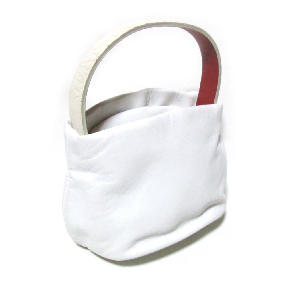 廃盤 JeanPaulGAULTIER ジャンポールゴルチエ レザーハンドバッグ (ゴルチェ 赤 白 皮 革 鞄) 123149 【中古】