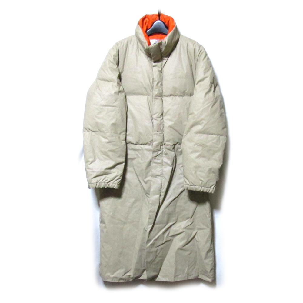 美品 yuji:fabricwork ユージ ファブリックワーク ロングダウンコート (オレンジ ベージュ) 123237 【中古】