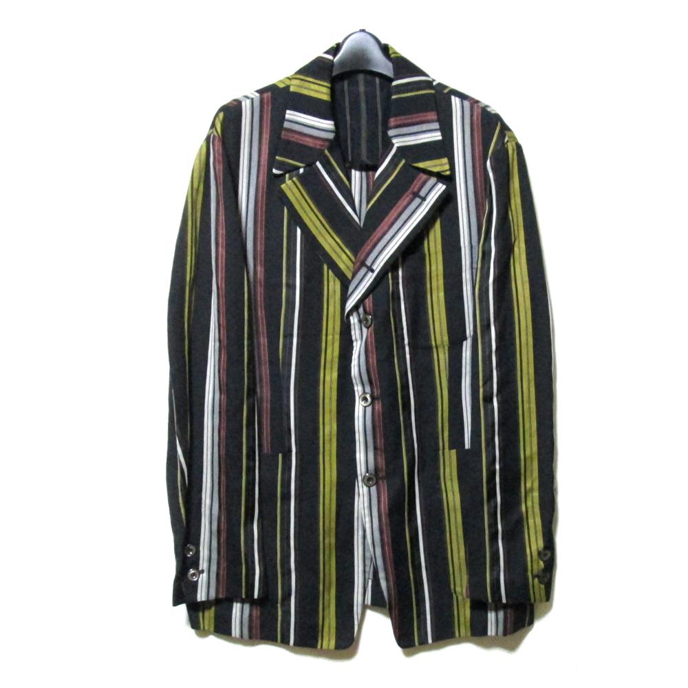 美品 Vintage monsieur NICOLE ヴィンテージ ムッシュ ニコル スクールストライプジャケット (黒 ブレザー) 123241 【中古】