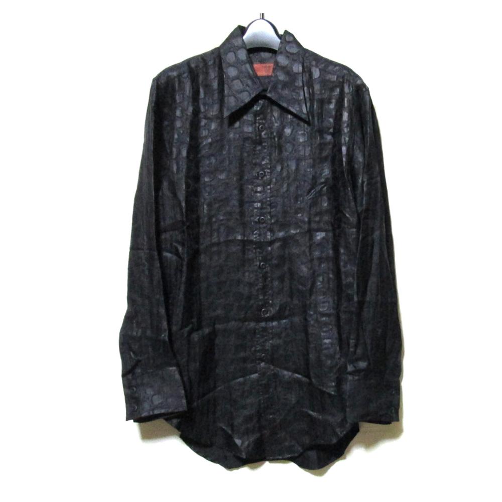 美品 Vintage YOSHIYUKI KONISHI FICCE ヴィンテージ ヨシユキコニシ フィッチェ ワイドパイソンシャツ (黒) 123374 【中古】