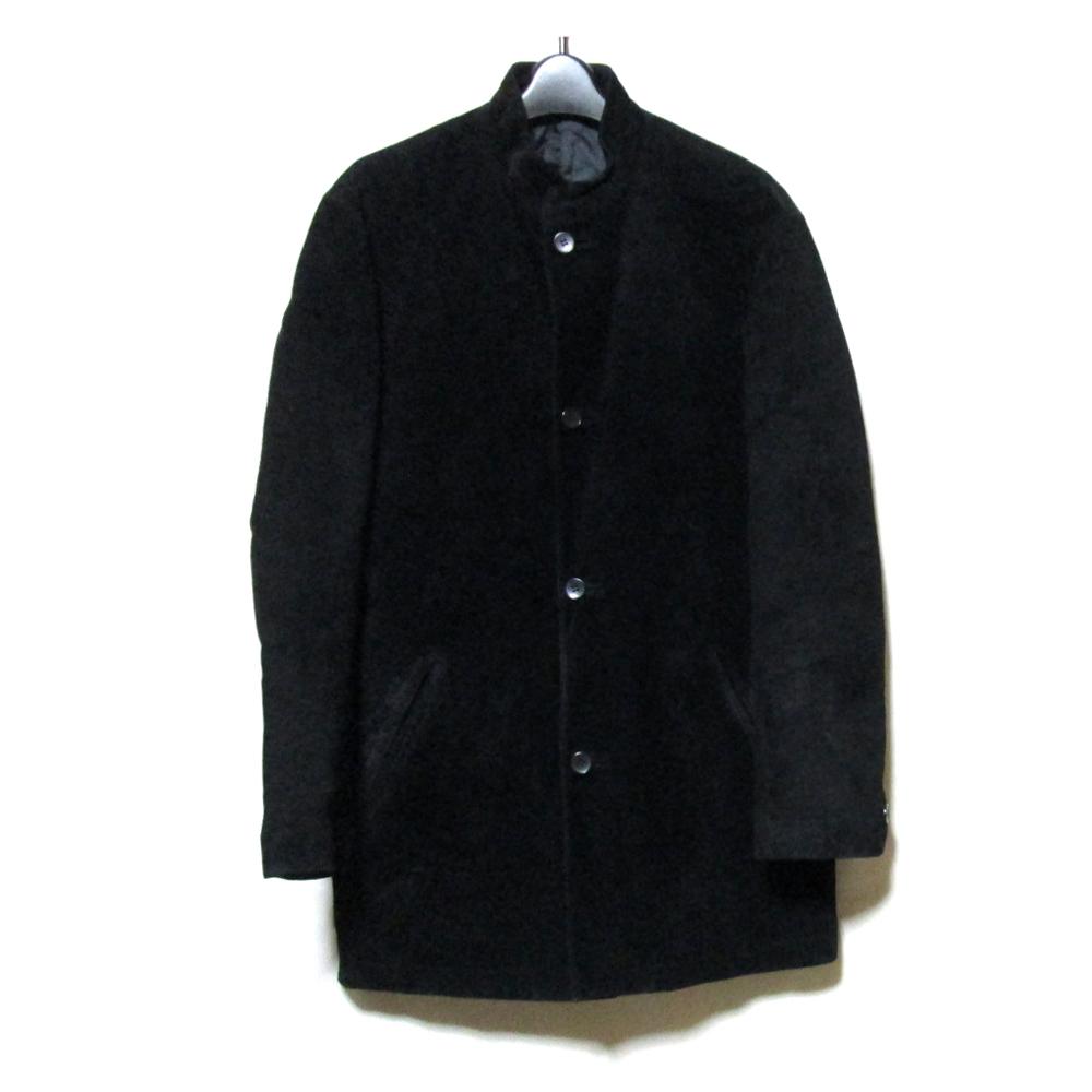 MEN'S TENORAS メンズティノラス 「M」 2wayマオカラーレザージャケット (黒 皮 革) 123396 【中古】