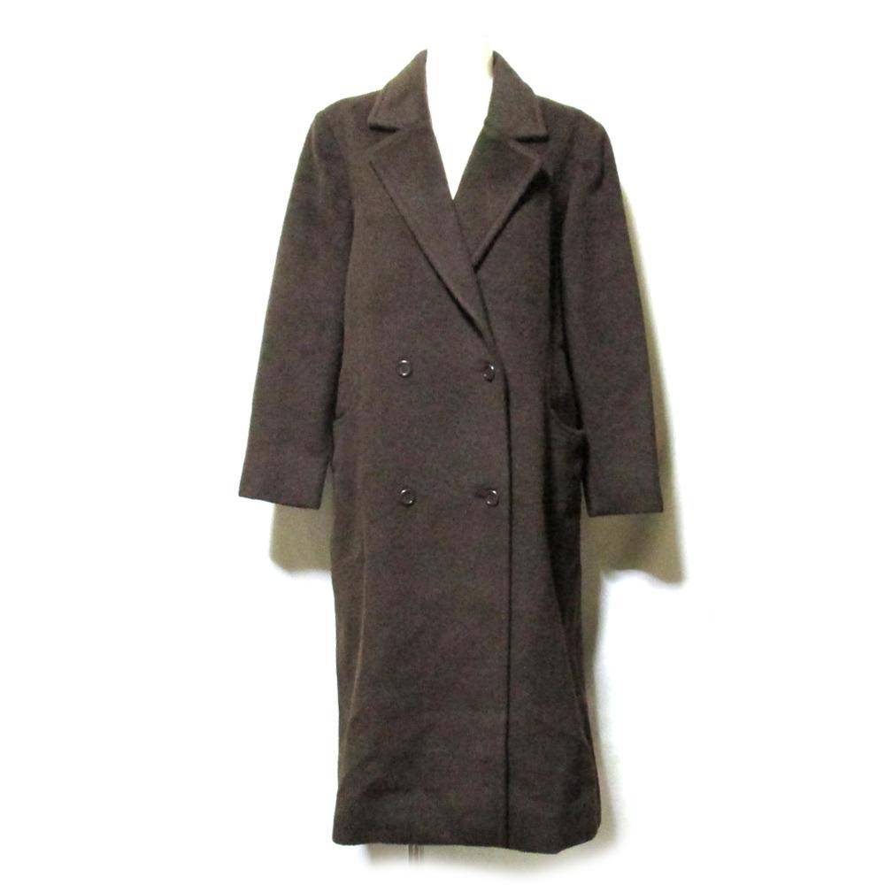 税込\3980以上購入で 送料無料 美品 高品質新品 Vintage 永遠の定番モデル Christian Dior ヴィンテージ 中古 クリスチャンディオール クラシックワイドシルエットロングコート 123630 7 ブラウン