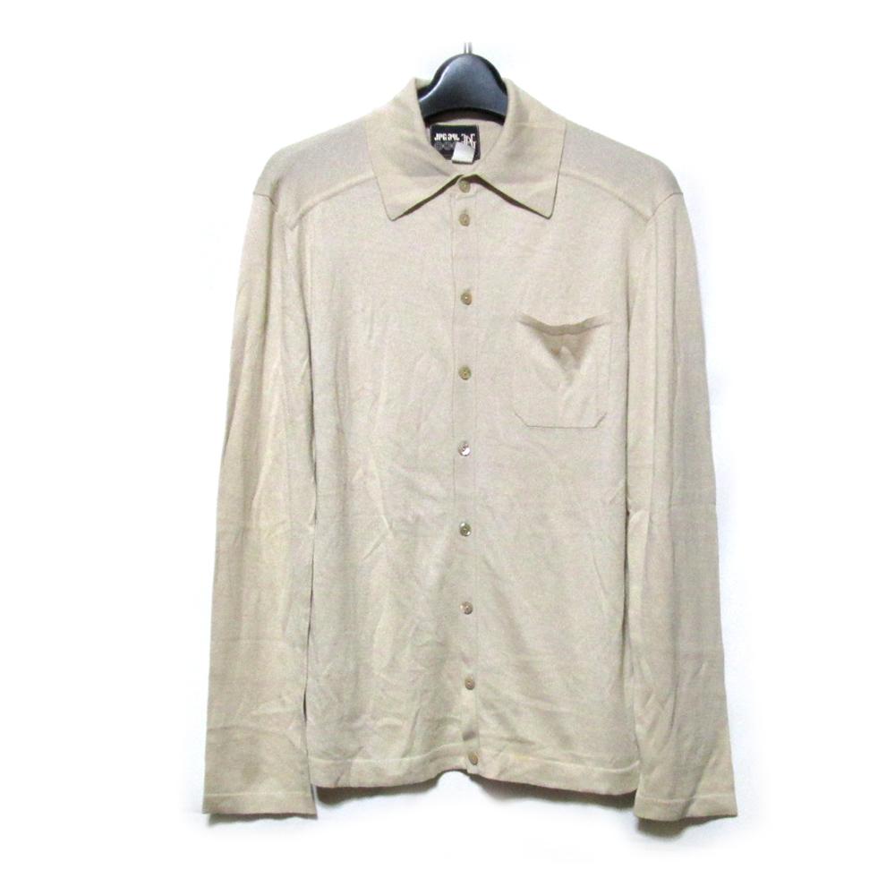 Jean Paul GAULTIER HOMME ジャンポールゴルチエ オム 「48」 ハイゲージニットシャツ (ゴルチェ ベージュ) 123723 【中古】