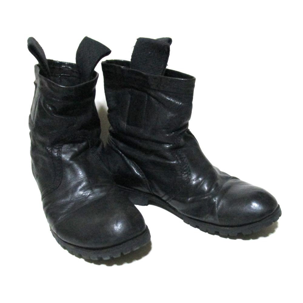 Rick Owens リックオウエンス エンジニアレザーブーツ (黒 ブラック シューズ 靴) 123943 【中古】