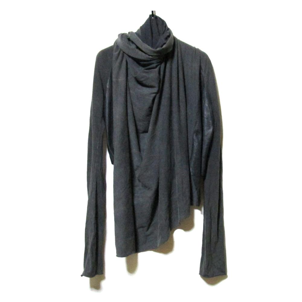 L.G.B. ルグランブルー 「0」 レザーショールジャケット (LGB エルジービー 革 皮 黒) 123966 【中古】