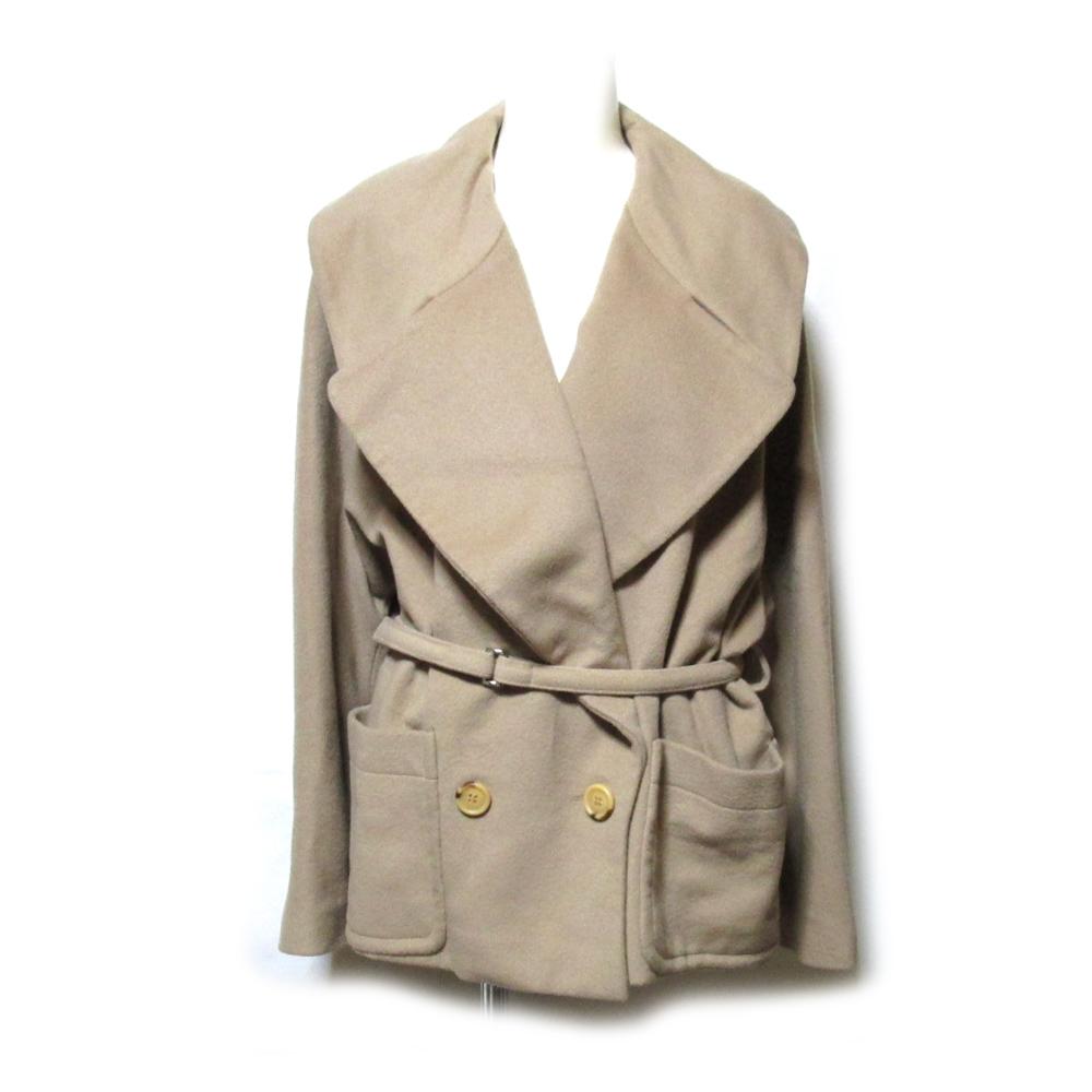 美品 L &P CLUB VALTAS lanificio del casentino カセンティーノ イタリア製 カシミヤ100% ワイドショートジャケット (ベージュ) 123996 【中古】