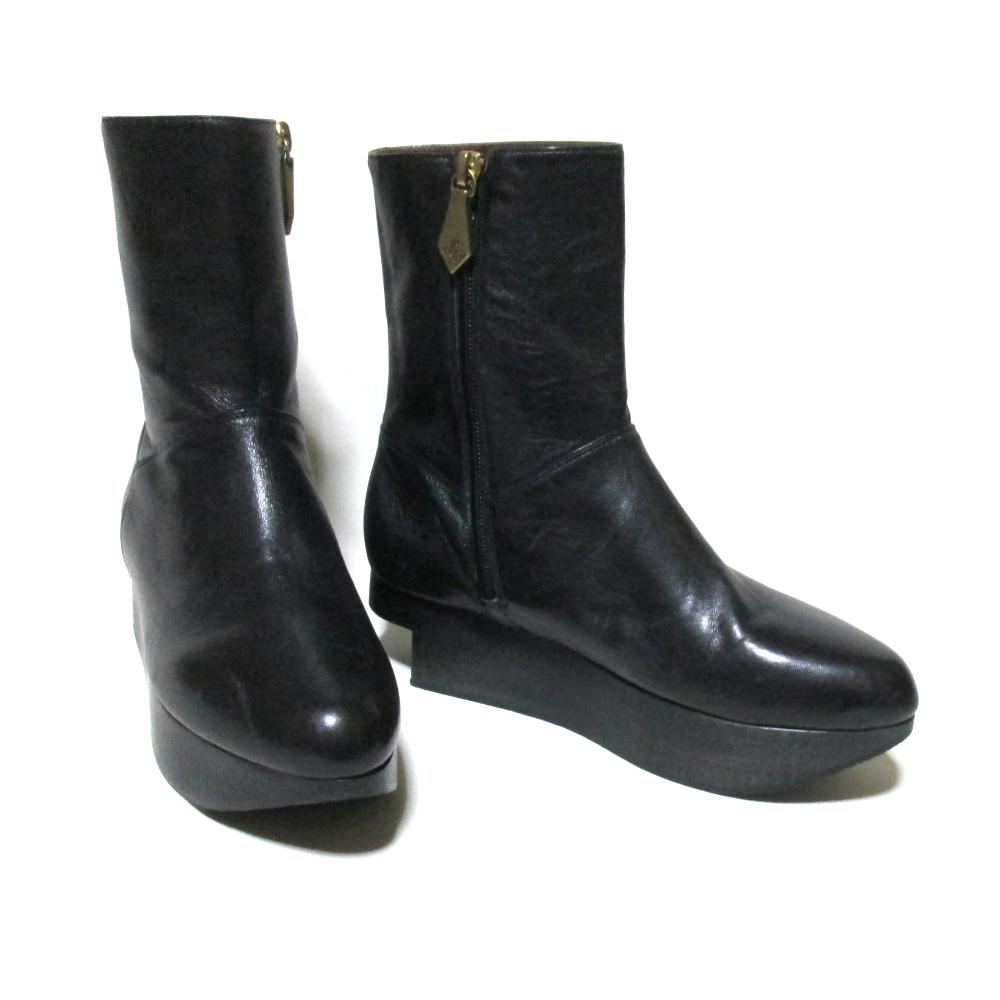 【新古品】 Vivienne Westwood ヴィヴィアンウエストウッド 「36」 イタリア製 アストロブーツ (黒 靴 ASTRAL BOOT) 124020 【中古】