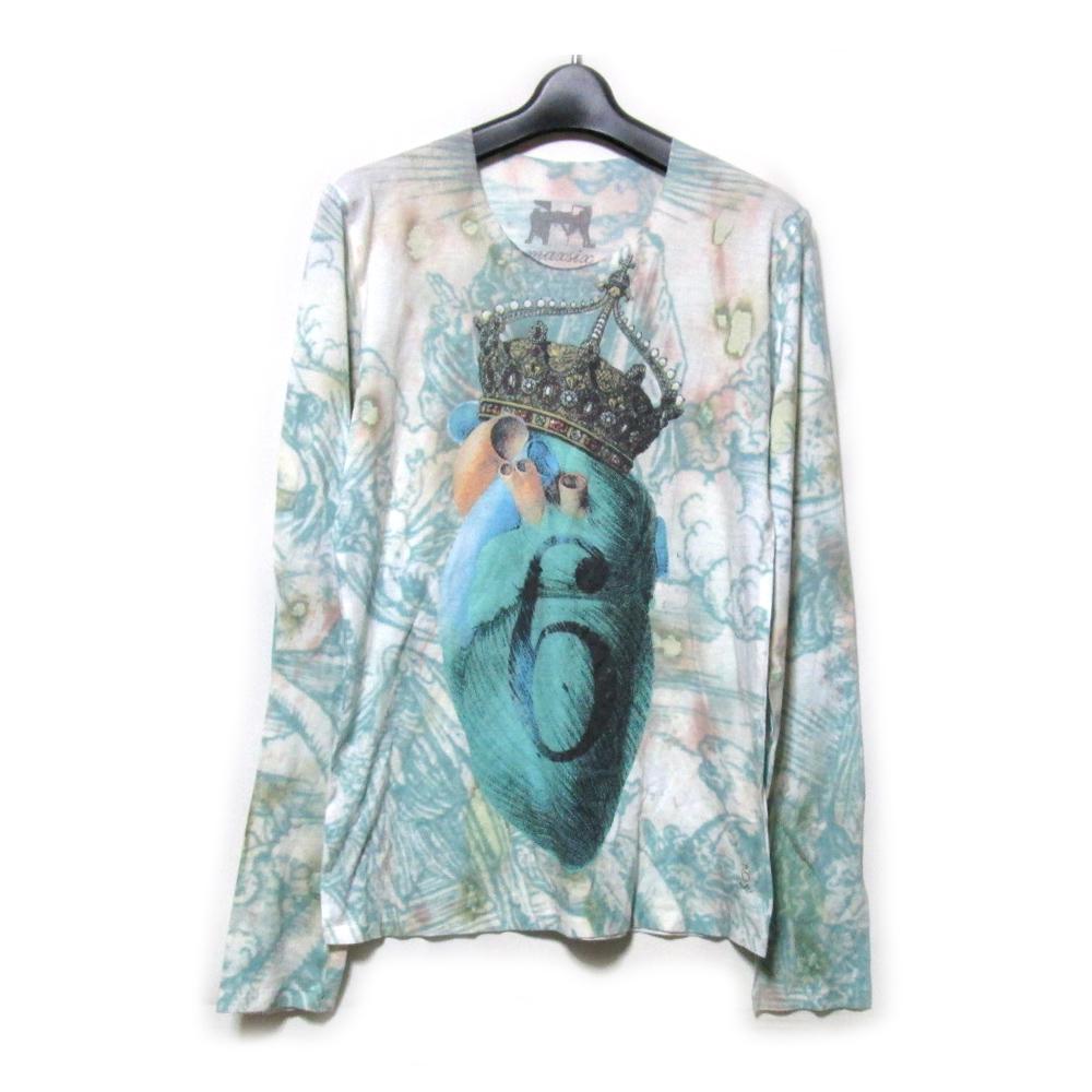 美品 maxsix マックスシックス 「M」 アートエスニックタトウTシャツ (半袖 ユニセックス) 124208 【中古】