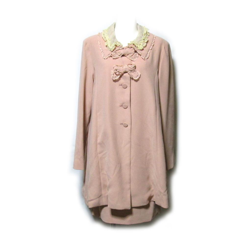 美品 Vintage KETTY ヴィンテージ ケティ レースリボンセットアップワンピース (ピンク スーツ フリル) 124238 【中古】