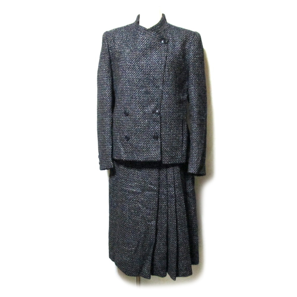 Vintage CLUBMEN ヴィンテージ クラブマン 「40」 フランス製 セットアップスーツ (黒 グレー) 124800 【中古】