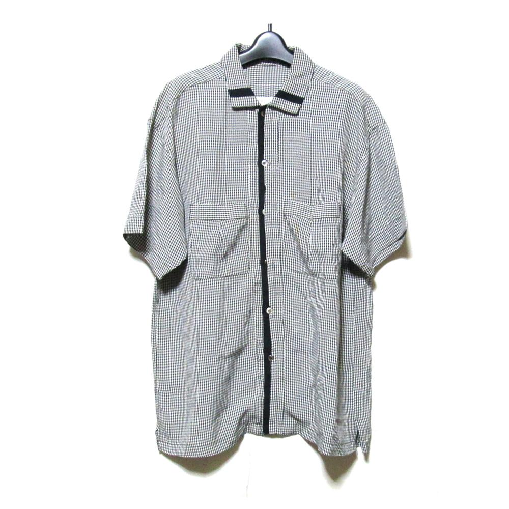 Vintage LineaFresca MasayukiAbo ヴィンテージ リネアフレスカ マサユキアボ 「M」 ラインシャツ (アヴァンギャルド 半袖) 124920 【中古】