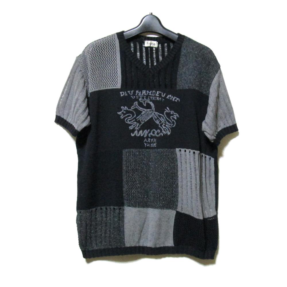 Vintage ficce YOSHIYUKI KONISHI フィッチェ ヨシユキコニシ 切り替えサマーニットセーター (アヴァンギャルド) 125247 【中古】