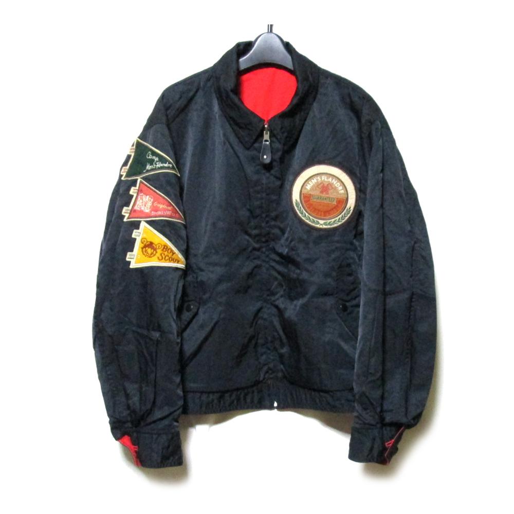 Vintage MEN'S FLANDRE ヴィンテージ メンズフランドル リバーシブルフルジップジャケット (赤 黒 刺繍) 125560 【中古】