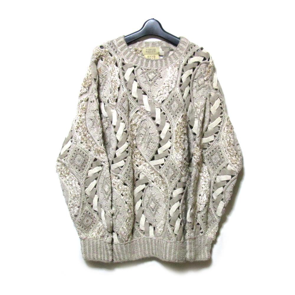 Vintage YOSHIYUKI KONISHI FICCE ヨシユキヨニシ フィッチェ 「1」 アートデザインハンドニットセーター (ドン小西) 125567 【中古】