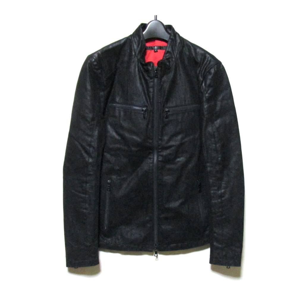 美品 NOID. ノーアイディー 「2」 レザーライダースジャケット (黒 ブラック 革 皮) 125692 【中古】
