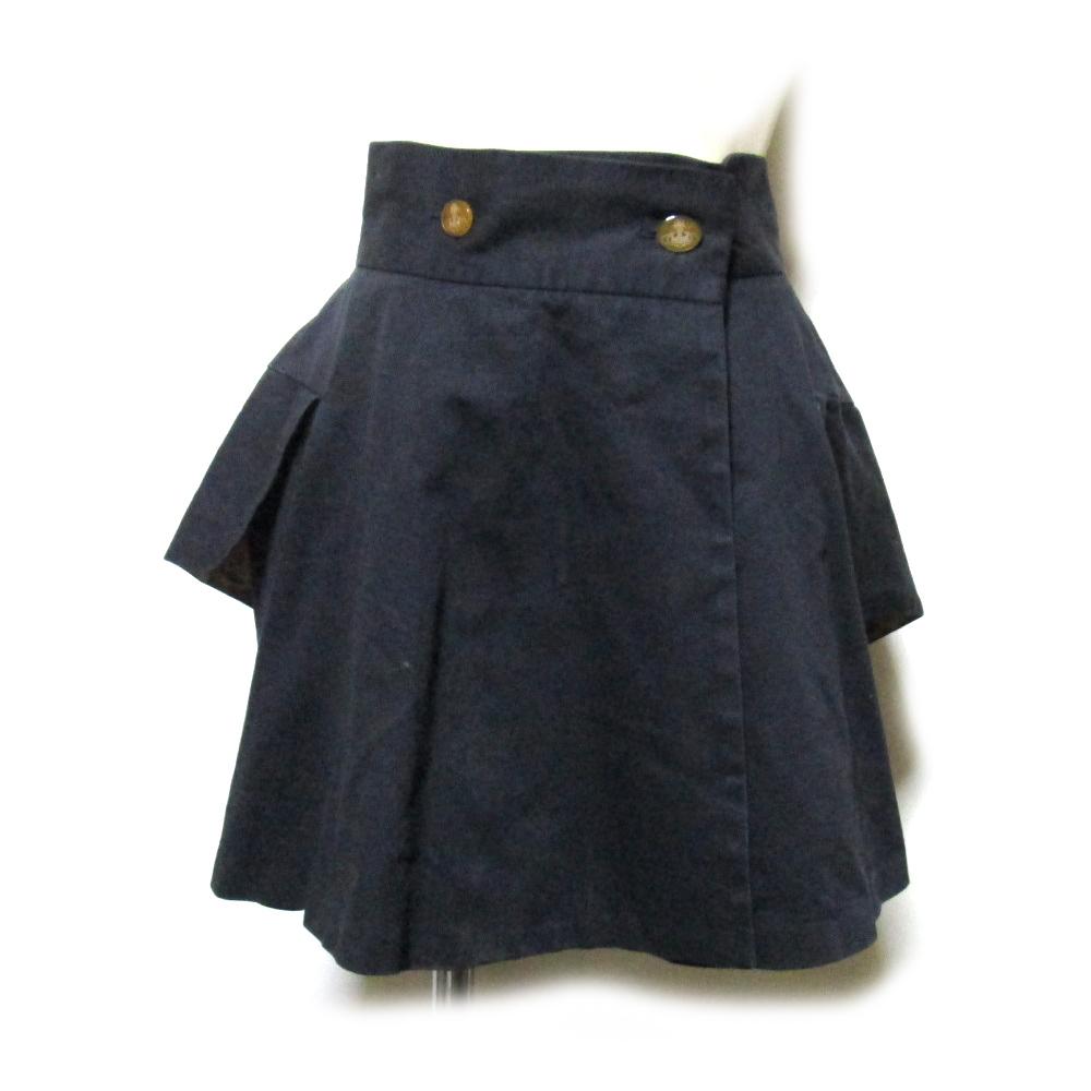 Vivienne Westwood ヴィヴィアンウエストウッド 「40」 イタリア製 プリンセススカート (黒 フラップ) 125726 【中古】