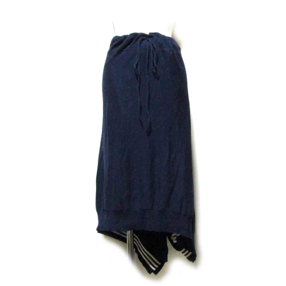 Y-3 ワイスリー 「S」 アシンメトリーラインスカート (Yohji Yamamoto ヨウジヤマモト adidas アディダス) 125977 【中古】