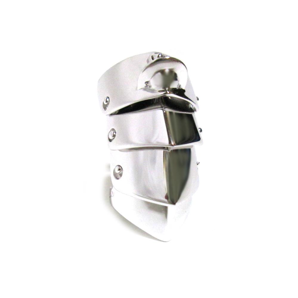 【新古品】 Vivienne Westwood ヴィヴィアンウエストウッド 「S」 シルバーアーマーリング (ORB オーブ 指輪) 126085 【中古】