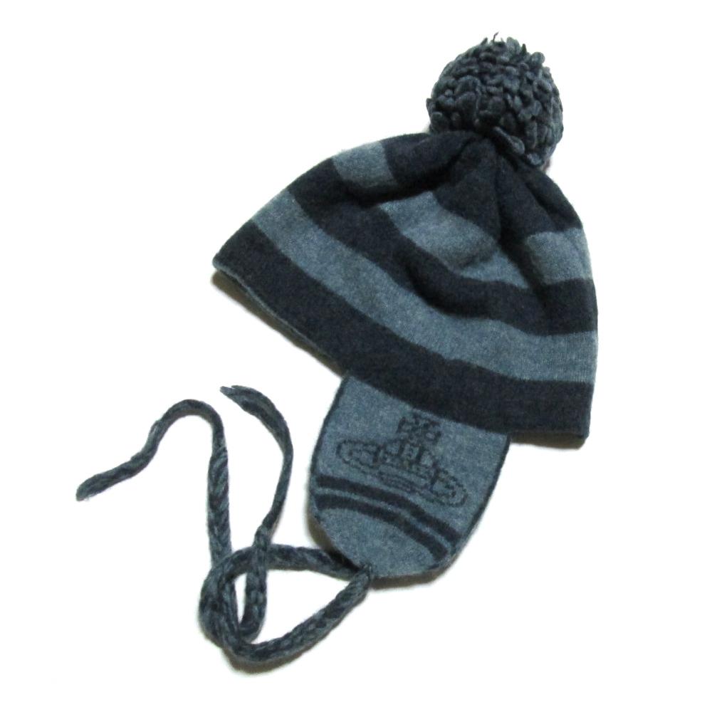 廃盤 Vivienne Westwood ヴィヴィアンウエストウッド ボンボンニットキャップ (耳付き 鳥打帽 帽子) 126606 【中古】