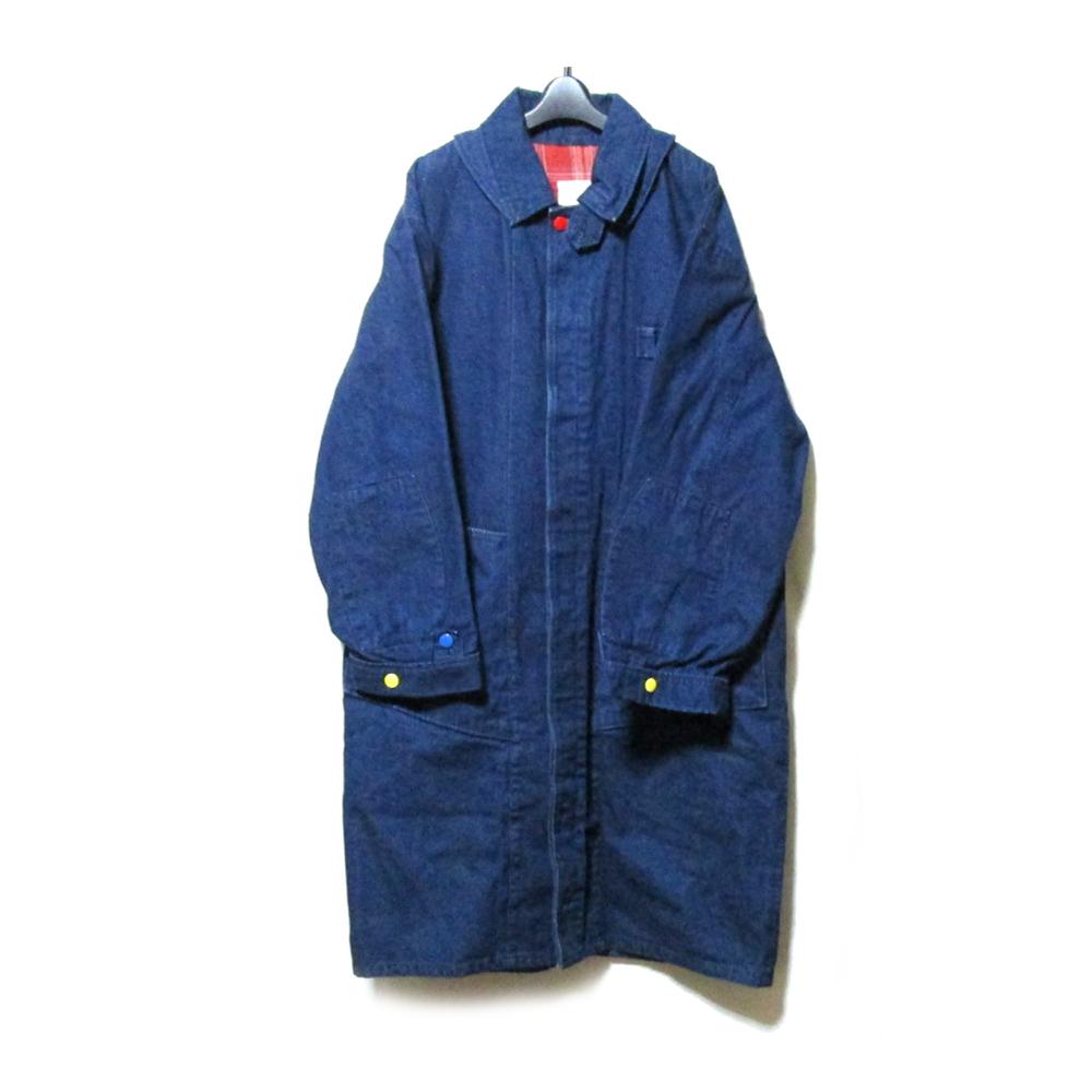 Vintage SPARK PLUG ヴィンテージ スパークプラグ ワイドシルエットマキシ丈コート (ジーンズ) 126612 【中古】