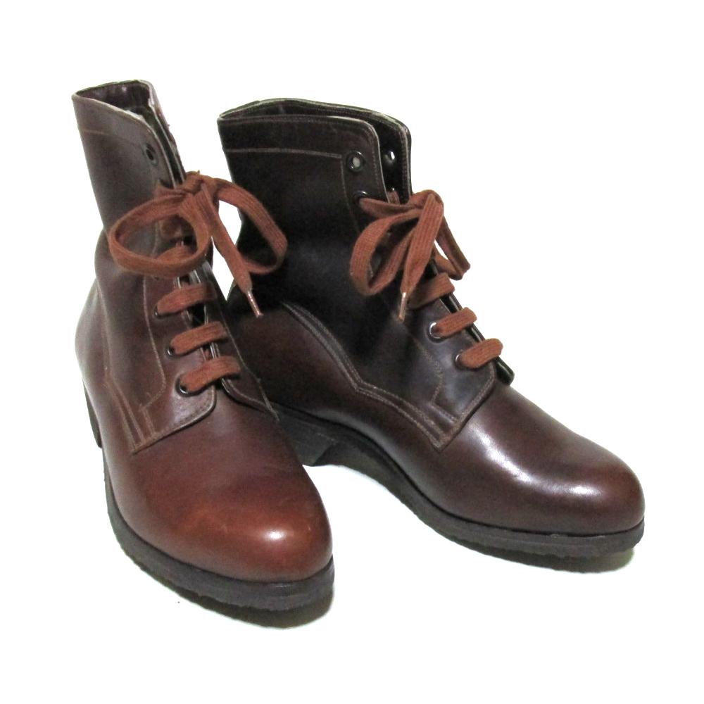 Vintage Hungary military ヴィンテージハンガリー軍 「36」 レザー7ホールブーツ (ブラウン 靴 シューズ) 126617 【中古】