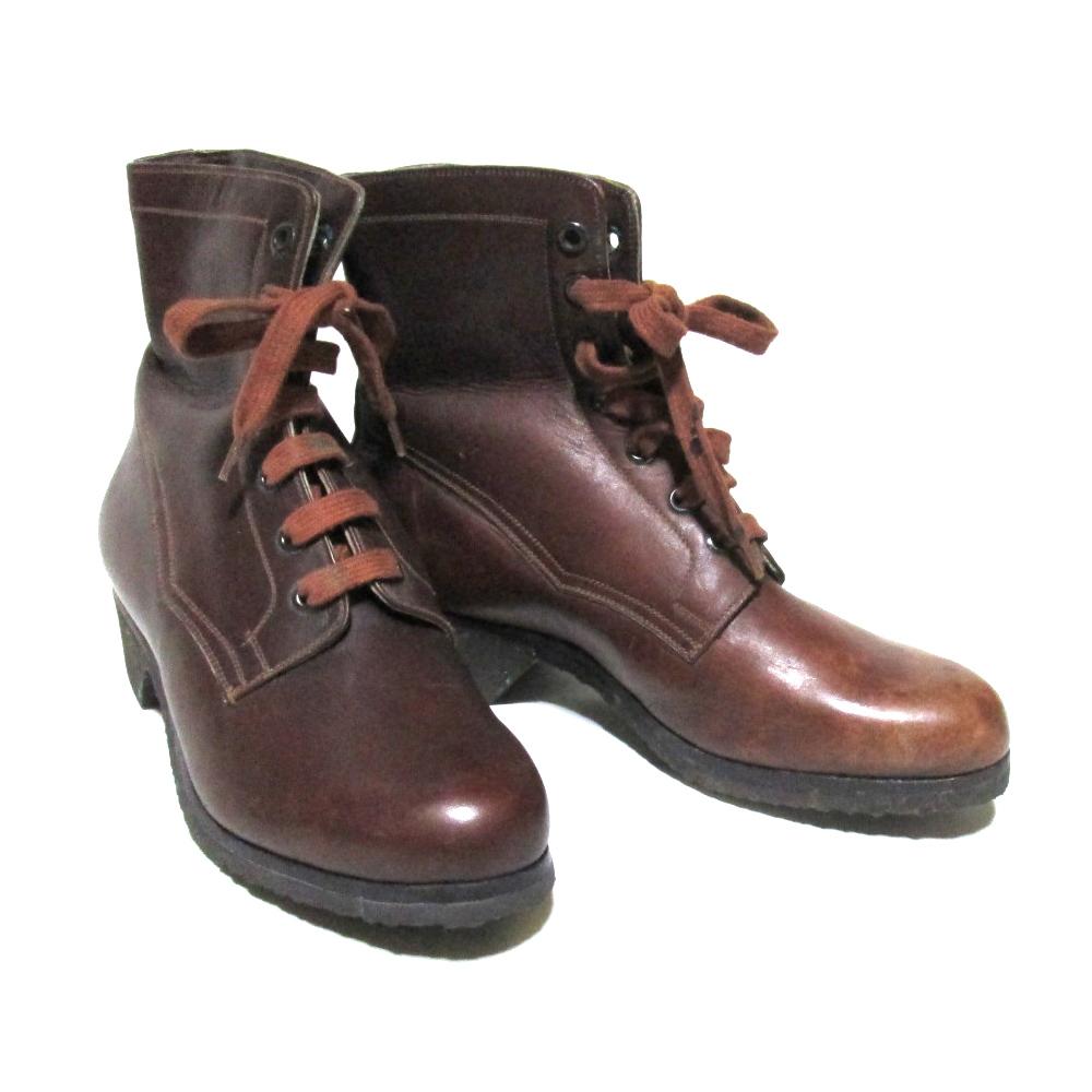Vintage Hungary military ヴィンテージハンガリー軍 「37」 レザー7ホールブーツ (ブラウン 靴 シューズ) 126619 【中古】