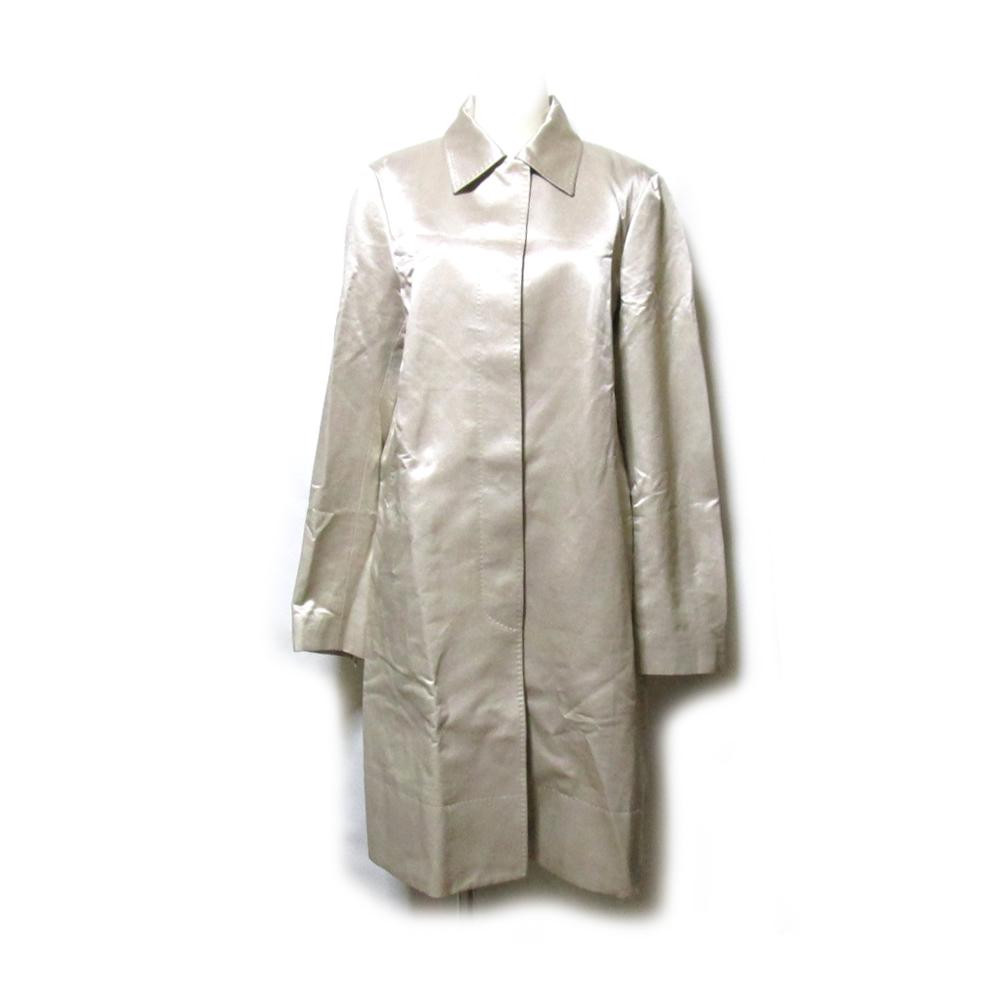美品 KULSON カルソン 「40」 イタリア製 ステンカラーシルクコート (絹100% ロング) 126894 【中古】