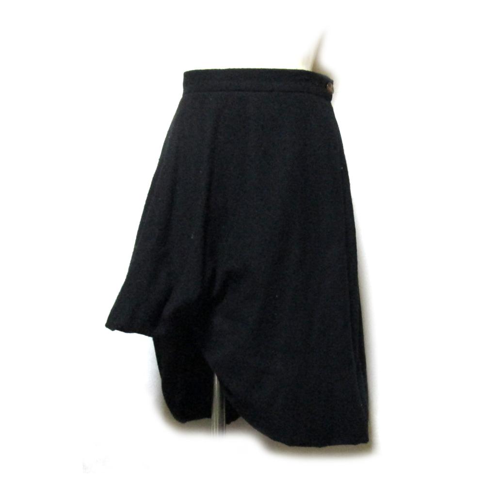 Vivienne Westwood ヴィヴィアンウエストウッド 「40」 イタリア製 アシンメトリーバルーンスカート (黒) 126924 【中古】