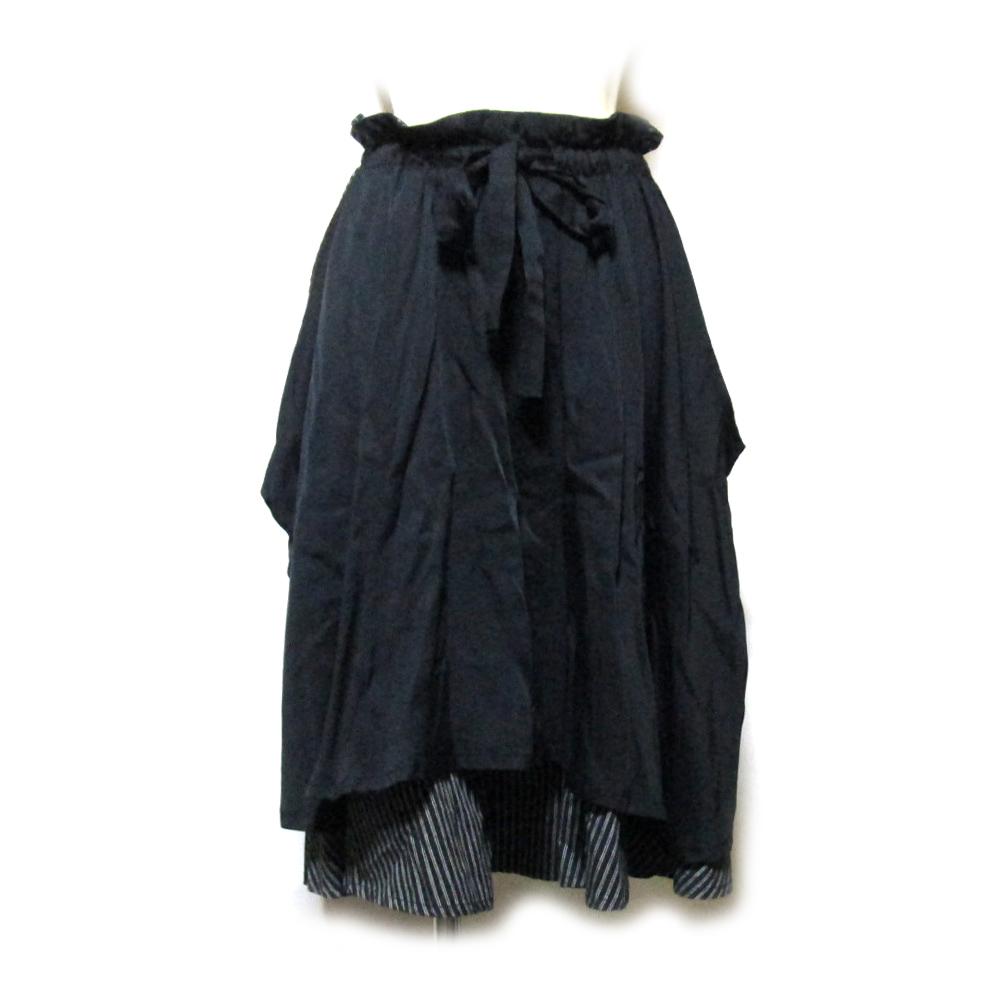 美品 LIMI feu リミフゥ 「S」 変形ボリュームバルーンスカート (Yohji Yamamoto ヨウジヤマモト) 126996 【中古】