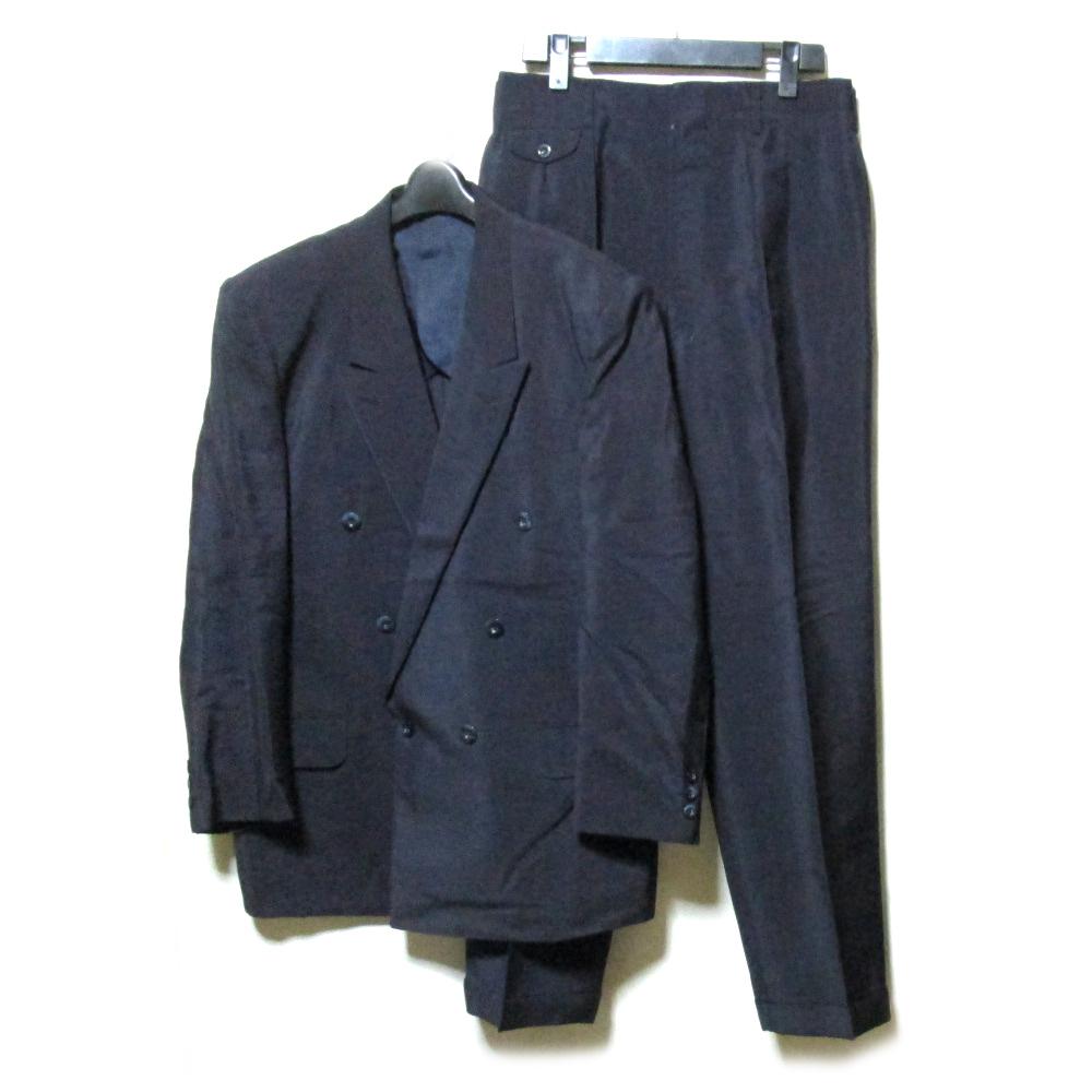 Vinyage BEARBRAND ヴィンテージ ベアーブランド イギリス製 ダブルブレスセットアップスーツ (黒 ブラック テーラード) 127004 【中古】