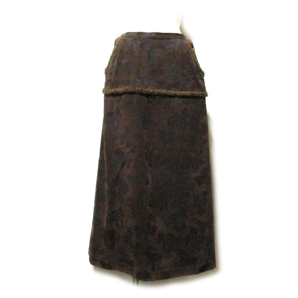 美品 Vintage PINK HOUSE ヴィンテージ ピンクハウス 「L」 日本製 テディベアモノグラムロングスカート (マキシ丈) 127019 【中古】