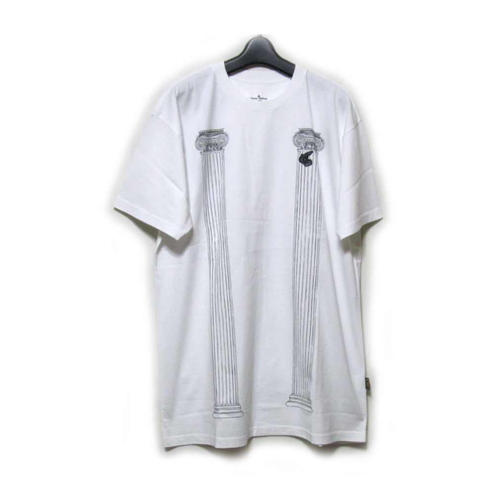 【新古品】 Anglomania Vivienne Westwood アングロマニア ヴィヴィアンウエストウッド 「S」 神殿柱Tシャツ (ユニセックス 半袖) 127153 【中古】