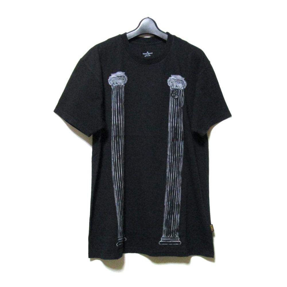 【新古品】 Anglomania Vivienne Westwood アングロマニア ヴィヴィアンウエストウッド 「S」 神殿柱Tシャツ (ユニセックス 半袖) 127156 【中古】