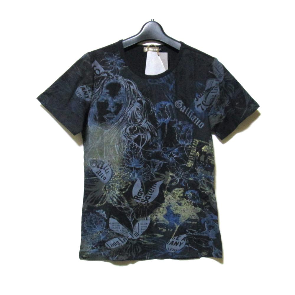 【新古品】 John Galliano ジョンガリアーノ 「M」 アニメプリントTシャツ (黒 半袖) 127300 【中古】
