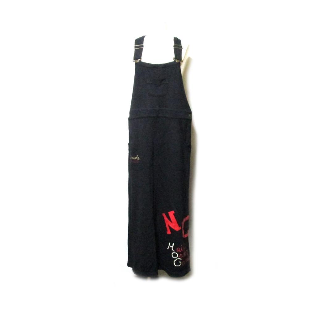Vintage NICOLE ヴィンテージ ニコル 「LL」 ワイドジャンパースカート (黒 MOG ) 127305 【中古】