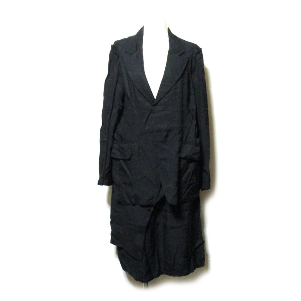 ZUCCA ズッカ 「M」 デザインセットアップスーツ (黒 巻きスカート ブラック) 127307 【中古】