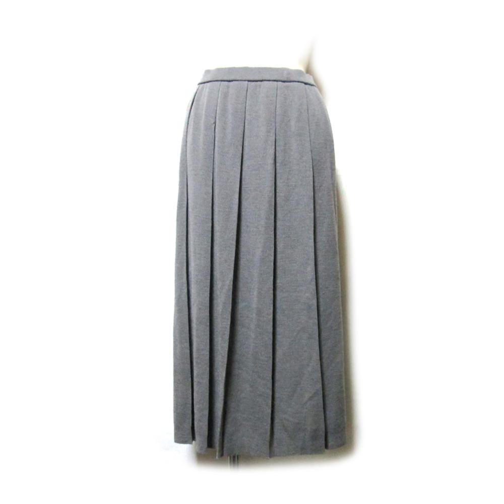 Vintage YVES SAINT LAURENT ヴィンテージ イヴサンローラン ロングニットプリーツスカート (イブサンローラン ) 127323 【中古】