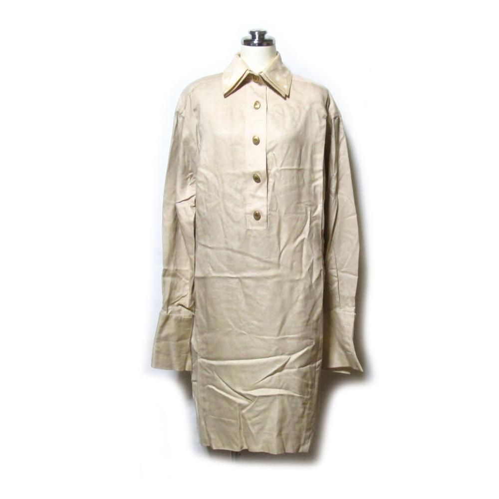 Vintage Christian Dior ヴィンテージ クリスチャンディオール 「36」 フランス製 ダブルカフス.カラーワンピース 127478 【中古】