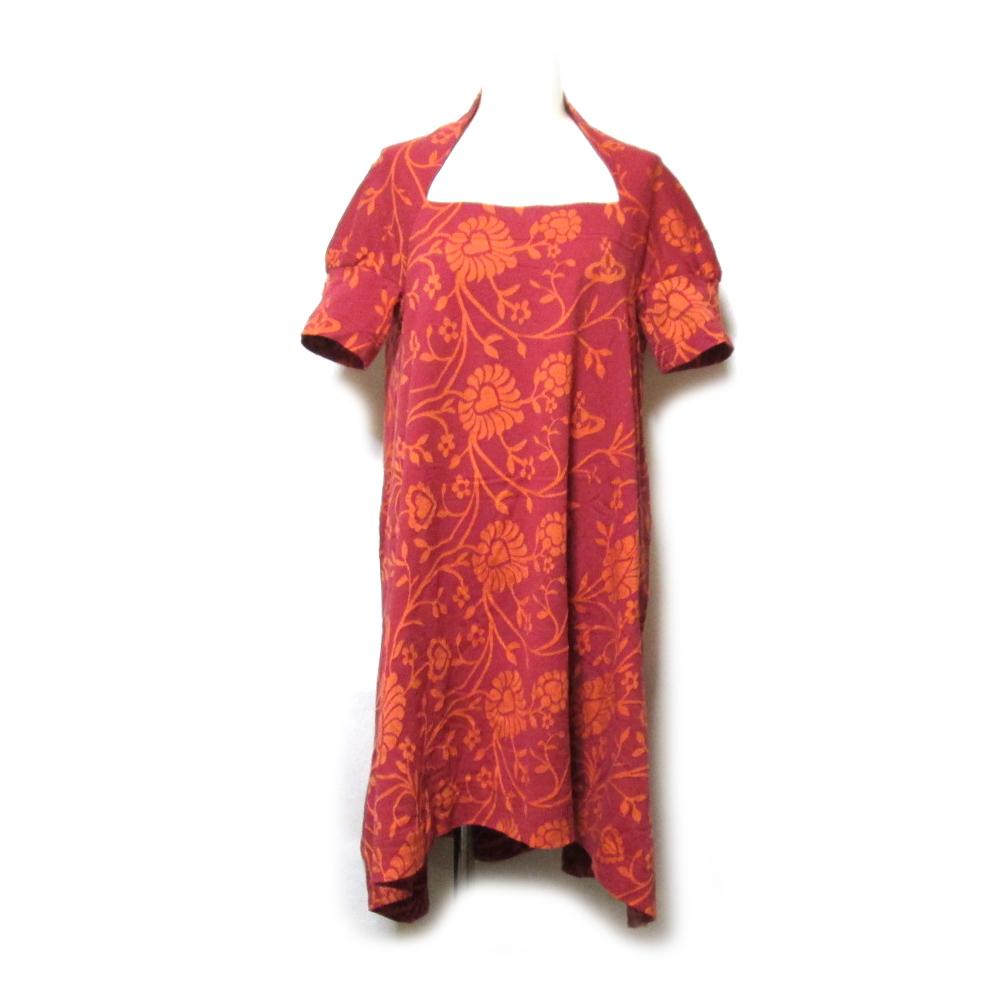 美品 Vivienne Westwood ヴィヴィアンウエストウッド 「2」 フラワーオーブワンピース (半袖 Aライン ORB) 127548 【中古】