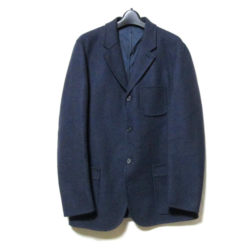 【超新作】 美品 JIL SANDER ジルサンダー 「48」 イタリア製 ワイドデザインジャケット (紺 グレー) 127684 【】, 【再入荷!】 f9efcf2a