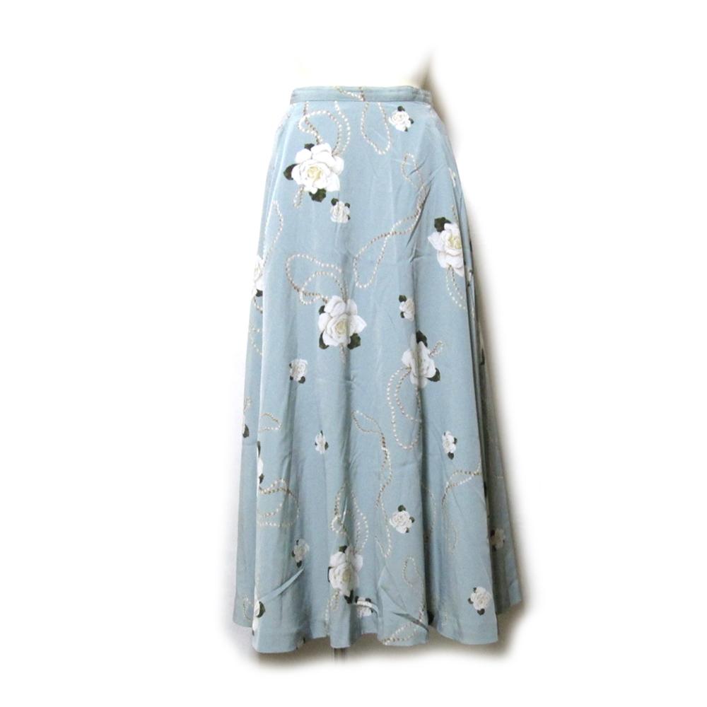 美品 Vintage INGEBORG ヴィンテージ インゲボルグ ローズロングボリュームスカート (薔薇 マキシ丈) 128373 【中古】