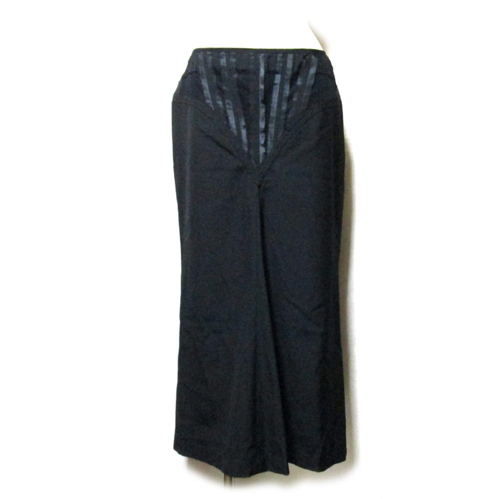 美品 Jean Paul GAULTIER ジャンポールゴルチエ 「40」 コルセットロングスカート (ゴルチェ 黒 ブラック) 128576 【中古】
