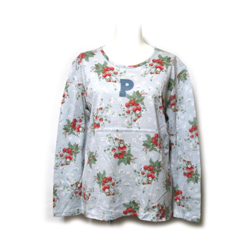 美品 Vintage PINK HOUSE ヴィンテージ ピンクハウス ストロベリーロンTシャツ (イチゴ 莓 長袖) 128592 【中古】